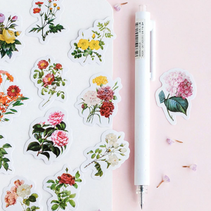 Retro Flowers | Decorative Planner Sticker Pack pen