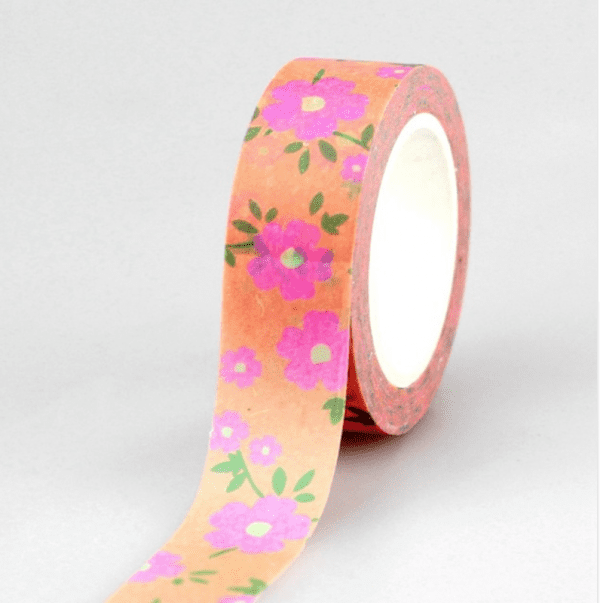 Peach and posey washi tape for bullet journals