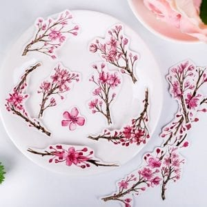 cherry blossom decorative sticker pack