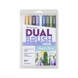 tombow dual desert floral brush pen set nz
