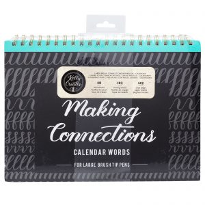 Brush Lettering for Planners | Calendar Words - Large Brush Kelly Creates Workbook