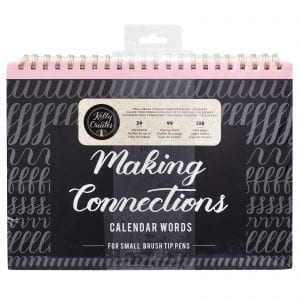 Brush Lettering for Planners | Calendar Words - Small Brush Kelly Creates Workbook