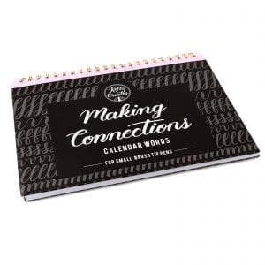 Brush Lettering for Planners | Calendar Words - Small Brush Kelly Creates Workbook styled