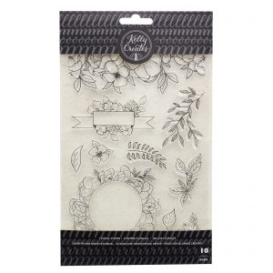 Floral Stamps | Clear Planner Stamps by Kelly Creates