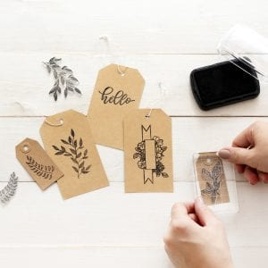 Floral Stamps | Clear Planner Stamps by Kelly Creates clear bloc