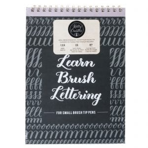Learn Brush Lettering - Small Brush Kelly Creates Workbook