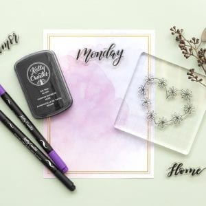 Stamping & Tracing Block Starter Kit | Clear Planner Stamps by Kelly Creates example