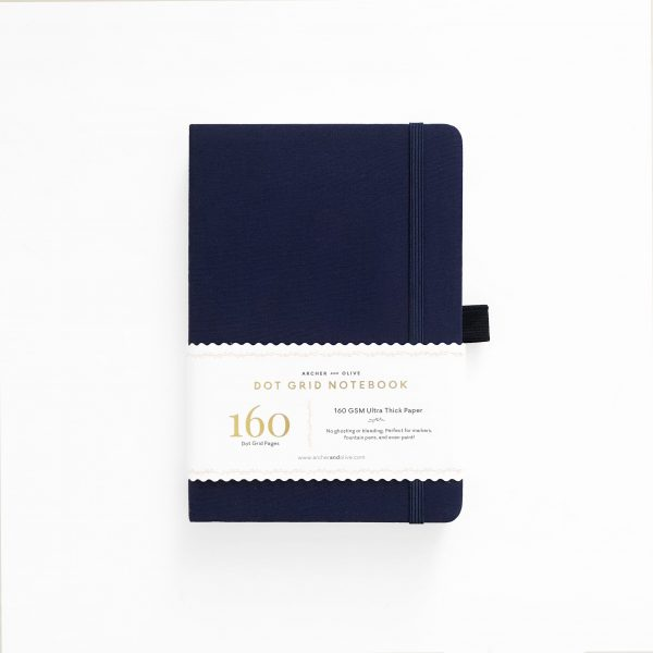 Archer and olive A5 dot grid bullet journal dark blue