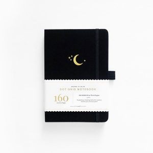 Archer and olive A5 dot grid bullet journal golden cresent moon