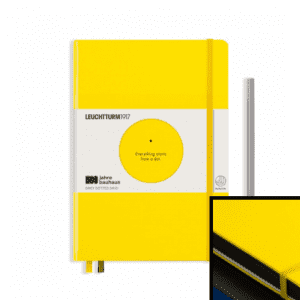 Yellow Bauhaus Special Edition Leuchtturm 1917 dotted a5 notebook