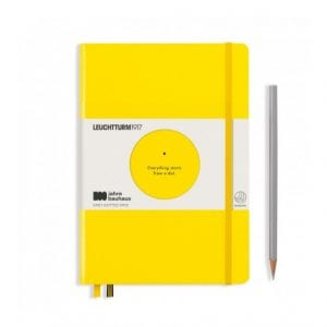 BAUHAUS dotted bullet journal new zealand leuchturm yellow