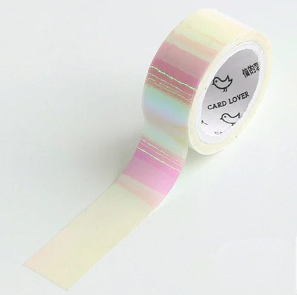 holographic strawberries and cream washi medium Washi tape (2 of 5)