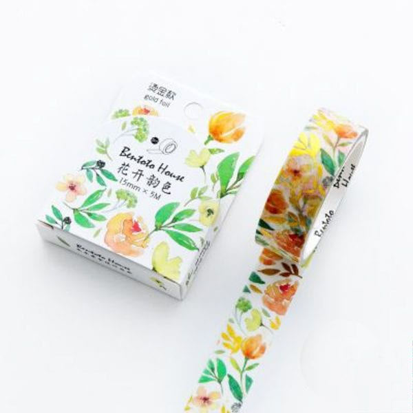 Golden Spring Medium Foil Washi Tape