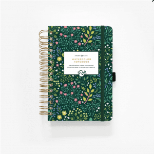 WATERCOLOR A5 VERDANT VENTURES SPIRAL DOT GRID NOTEBOOK cover