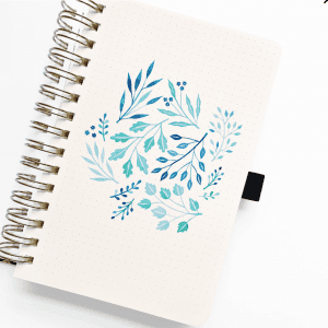 WATERCOLOR A5 VERDANT VENTURES SPIRAL DOT GRID NOTEBOOK example