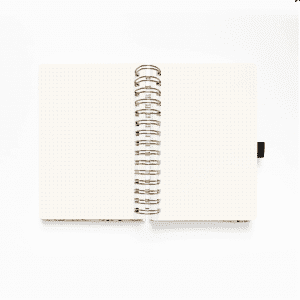 WATERCOLOR A5 VERDANT VENTURES SPIRAL DOT GRID NOTEBOOK inside