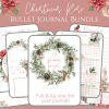 december Christmas Bullet Journal Printable Layouts spreads PDF downloads