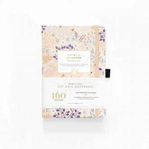 Archer and olive blush-a-bye A5 dotted notebook for bullet journals nz