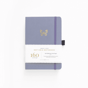 archer and olive purple butterfly wings 160gsm dotted notebook for bullet journals.png