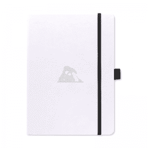 Dingbats A5 Dotted Notebook Earth Series | Arctic White flat lay