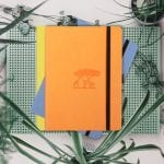 Dingbats A5 Dotted Notebook Earth Series | Tangerine Serengeti flat lay