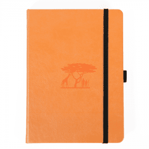 Dingbats A5 Dotted Notebook Earth Series _ Tangerine Serengeti