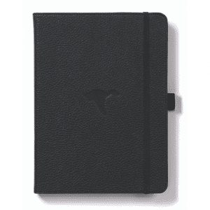 Dingbats A5 Dotted Notebook Wildlife Series _ Black Duck
