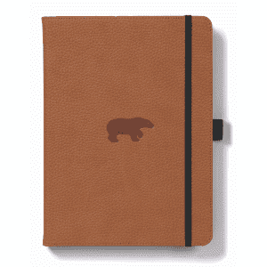 Dingbats A5 Dotted Notebook Wildlife Series _ Brown Bear