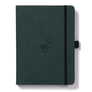 Dingbats A5 Dotted Notebook Wildlife Series _ Green Deer