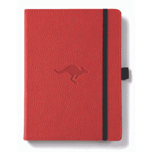 Dingbats A5 Dotted Notebook Wildlife Series _ Red Kangaroo