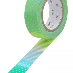 Patchwork Blue & Lime | Medium Washi Tape