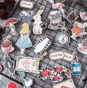 Through The Looking Glass | Decorative Planner Sticker Pack for bullet journals nz flat lay