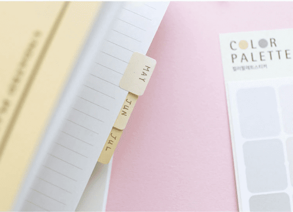 Colour code me plain calendar, tabs and planner stickers for Bullet Journals tabs