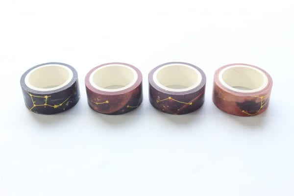 Look To The Skies Warm | Washi tape Set in a row