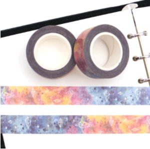 Watercolour skies medium washi tape nz