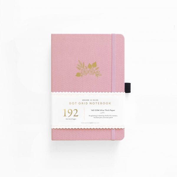Archer and olive bullet journal 160gsm pages A5 light pink australia