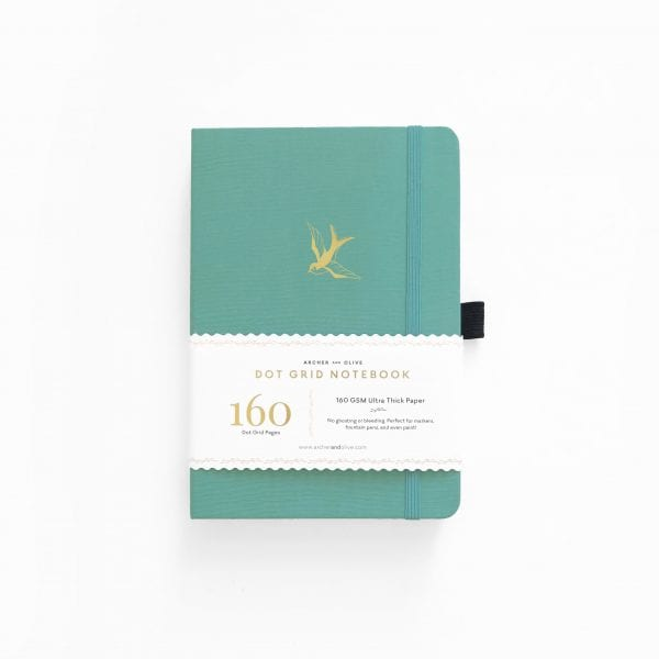 Archer and olive gliding swallow A5 dotted journal 160gsm pages