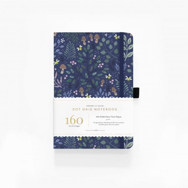 Archer and olive into the forest A5 160gsm dotted notebook for bullet journals