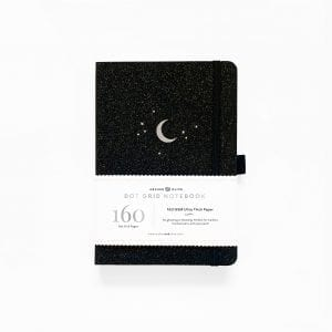 Archer and olive sparkly forest night A5 notebook 160gsm pages