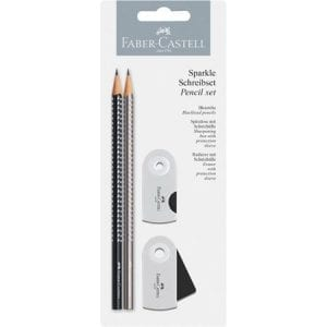 Faber-Castell Sparkle Pencil Set | Silver and Black
