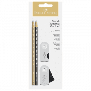 Faber-Castell Sparkle Pencil Set _black & gold
