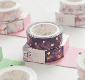 Purple Blossom golden washi tape new zealand