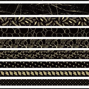 Washi Tape Set Bulk Buy New Zealand Black and Gold Worlds